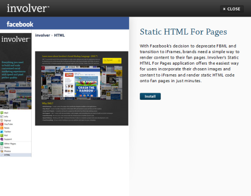 Involver_static_html_for_pages